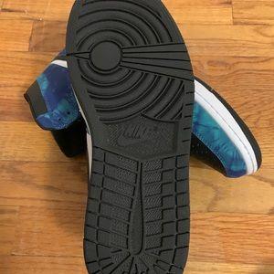 Jordan's 1 tie die blue black